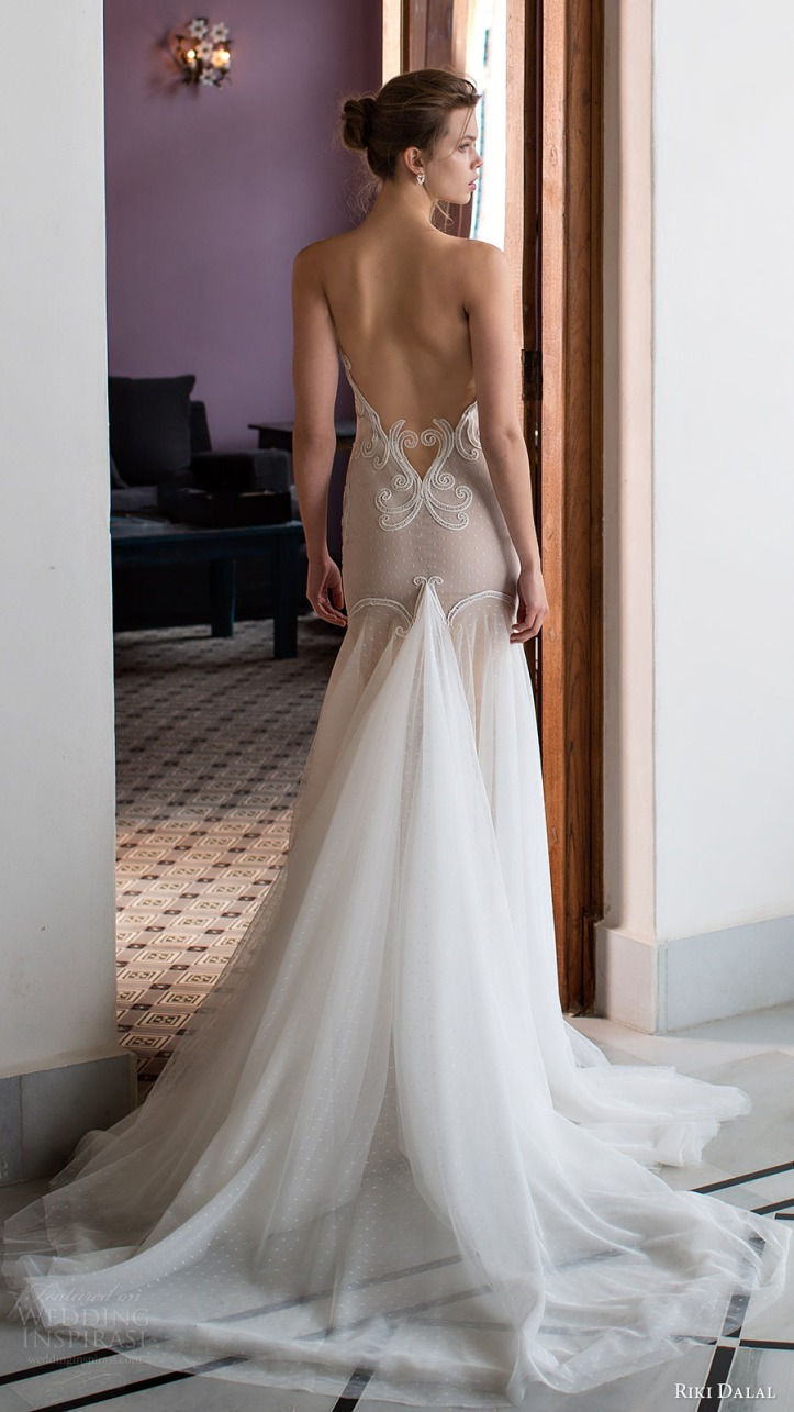 Low Back Wedding Dress Fit And Flare : Riki dalal wedding dresses verona bridal collection