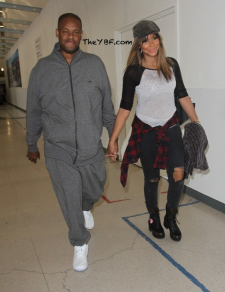 Tamar Braxton arrives at Los Angeles International (LAX) Airport with her husband Vincent Herbert  Featuring: Tamar Braxton, Vincent Herbert Where: Los Angeles, California, United States When: 18 Oct 2016 Credit: WENN.com